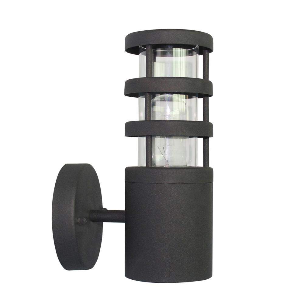 Image of 304 SS/Black Wall Lantern - 1 x 60W E27 by Happy Homewares