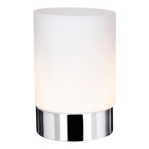 Small Polished Chrome Touch Dimmable Table Lamp