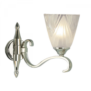 Wall Light - Polished nickel plate & clear glass with frosted inner