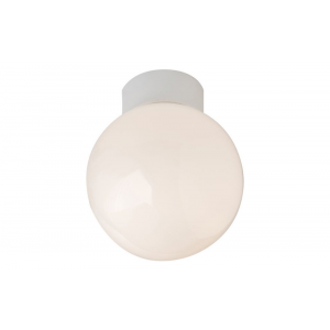 Opal Glass Globe IP44 Bathroom Ceiling Light Fitting
