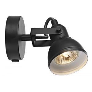 Unique Industrial Designed Matt Black Switched Wall Spot Light