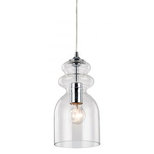Modern and Unique Bottle Shaped Glass Ceiling Pendant Light Fitting
