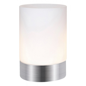 Contemporary Small Brushed Silver Touch Dimmable Table Lamp