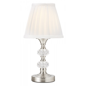 Small Satin Chrome and Glass Touch Dimmable Table Lamp
