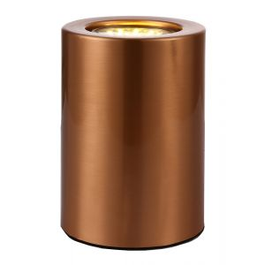 Small and Contemporary Brushed Copper LED Table/Floor Lamp Uplighter