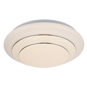 Modern LED IP44 Rated Bathroom Flush Ceiling Light with Opal Diffuser