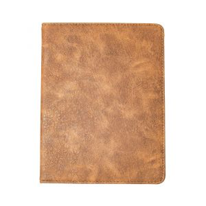 "iPad Pro 9.7"" (2016) Stylish Faux Leather Effect Flip Cover Case - Brown / Grey"