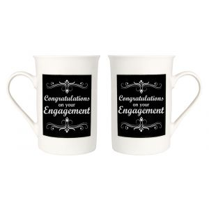 Quirky and Modern Congratulations on your Engagement Mug Gift Set